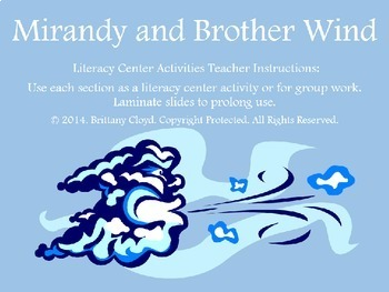 Mirandy and Brother Wind McKissack Literacy Center Activities Task Cards