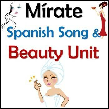 Mirate - Spanish Song Lyrics & Beauty Activities Unit - Aldrey - La belleza