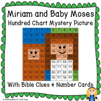Miriam (Women of the Bible) with Baby Moses Hundred Chart Mystery Picture