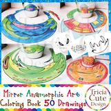 Art Lesson Mirror Anamorphic Art Coloring Book Optical Ill