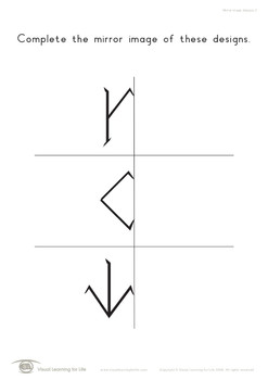 Mirror Image Designs (Visual Perception Worksheets)