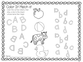 Mirror Match Alphabet Sort and Practice