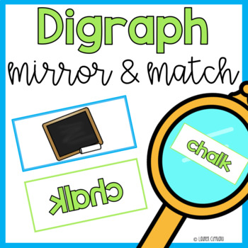 Mirror Matching Digraph Sort Activity ch sh th wh