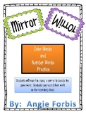 Mirror, Mirror Color and Number Word Practice