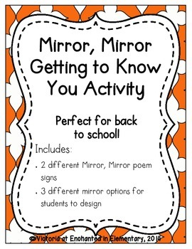 Mirror, Mirror Getting to Know You Activity {Freebie!}