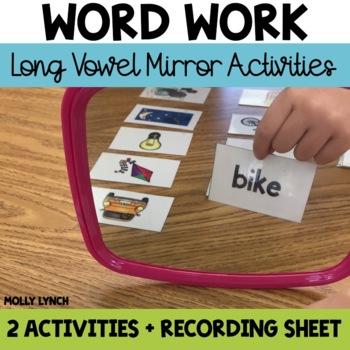 Mirror Mirror Long Vowel Phonics Activities