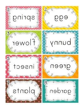 Mirror Mirror: a fun word work activity for spring vocabulary
