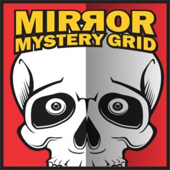 Mirror Mystery Grid Art Project - Skull