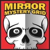 Mirror Mystery Grid Art Project - Skull