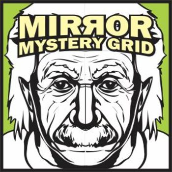 Mirror Mystery Grid Drawing - Albert Einstein