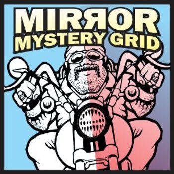 Mirror Mystery Grid Drawing Art Project - Biker
