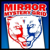 Mirror Mystery Grid Drawing Art Project - Cougar