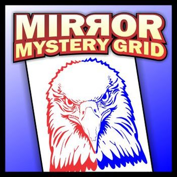 Mirror Mystery Grid Drawing Art Project - Eagle