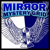 Mirror Mystery Grid Art Puzzle - Bird of Prey