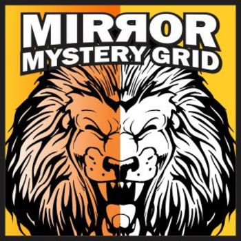 Mirror Mystery Grid Drawing Art Project - Lion