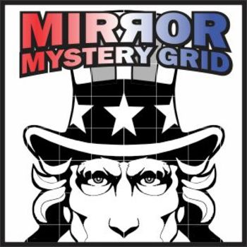 Mirror Mystery Grid Drawing Art Project - Uncle Sam