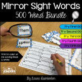 Mirror Sight Words 500 Fry Word Bundle