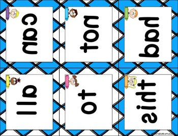 Mirror Sight Words Fry First 100 Task Cards