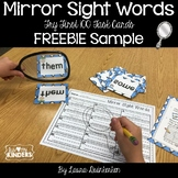 Mirror Sight Words Sample FREEBIE