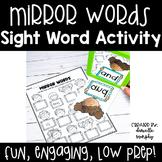 Mirror Sight Words l Kindergarten Sight Word Activity