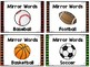 Mirror Words: Sports Themed Sight Word Activity