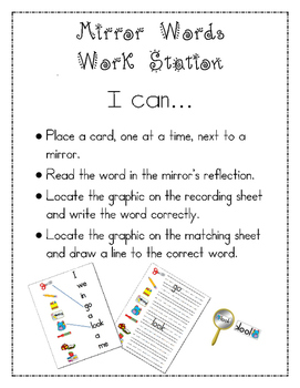 Mirror Words Work Station School