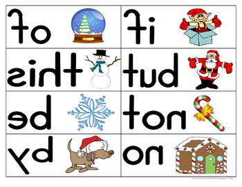 Mirror Words Work Station Christmas