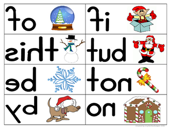 Mirror Words Work Station Christmas