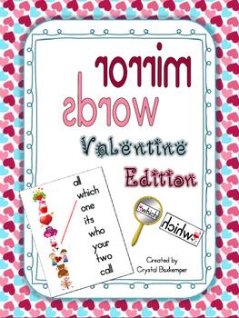 Mirror Words Work Station Valentine's Day