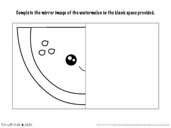 Mirror image drawing worksheet