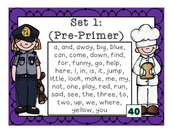 Mirrored Sight Words…Community Helpers Style