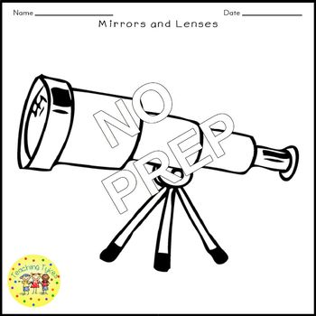 Mirrors and Lenses Crossword Puzzle