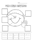 Mis Cinco Sentidos- My Five Senses practice in Spanish