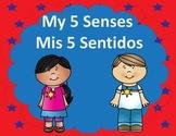 Dual Language My 5 Senses:  Spanish and English