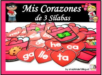 Mis Corazones de 3 Sílabas ~Construir palabras~