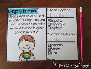 Mis Historias de Comprensión de Marzo (March comprehension stories in Spanish)