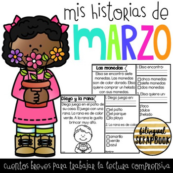 Mis Historias de Comprensión de Marzo (March comprehension stories in Spanish)