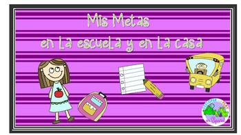 Mis Metas en la casa y en la escuela mini book