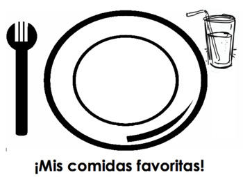 Mis comidas favoritas | Spanish food activity