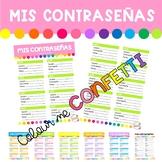 Mis contraseñas - Registro - Colour me Confetti