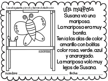 Mis historias de primavera {Spring Comprehension Stories in Spanish}