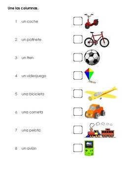 Mis juguetes - Worksheet