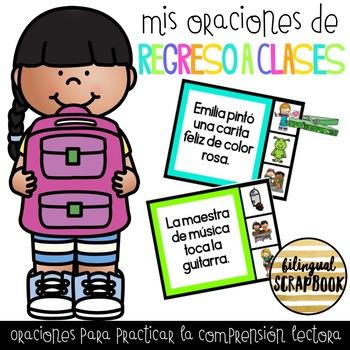Mis oraciones de regreso a clases (Clip a Sentence in Spanish - Back to School)