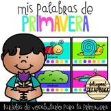 Mis palabras de primavera (Spring Vocabulary Words in Spanish)