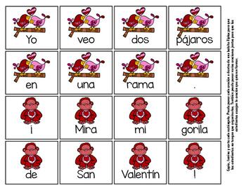 Mis primeras oraciones - Rompecabezas de San Valentín para los más pequeños