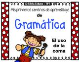 Las comas - mis primeros Centros de aprendizaje de gramática -