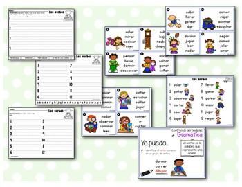 Mis primeros Centros de aprendizaje de gramática - Los verbos
