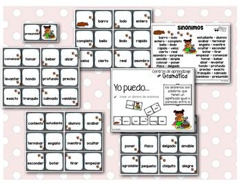 los sinónimos - mis primeros Centros de aprendizaje de gramática