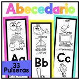 Mis pulseras del alfabeto {Alphabet Bracelets in Spanish}