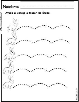 Mis trazos / pre writing line tracing
